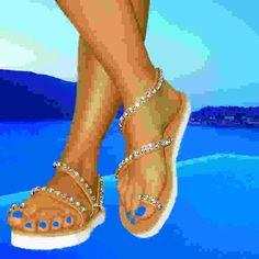 innovative greek sandals - Andromeda Swarovski Transparent LH - low heel platform