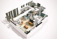 Virtually Tour 3D Floorplans Of Famous TV Shows Dexter Morgan