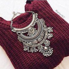 Gypsy Statement Necklace - #fashion #jewelry #ootd #statementnecklace #glam #photooftheday -  28,90 @happinessboutique.com