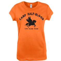 CAMP HALF-Blood funny halfblood half blood book greek demigod jupiter olympian geek clothes t shirt new s m l xl T-SHIRT Womens Orange e0408. $14.95, via Etsy.