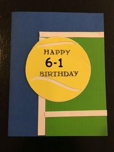 Tennis birthday card birthday handmade greeting card with tennis tennis birthday card m4hsunfo