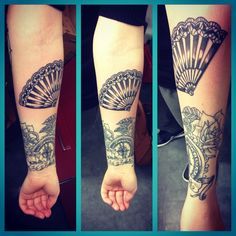 Tatouage éventail by Merries melody tattooshop66
