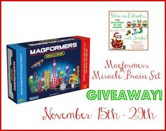 Magformers Miracle Brain Set #Giveaway #InCahoots - Thrifty Nifty Mommy