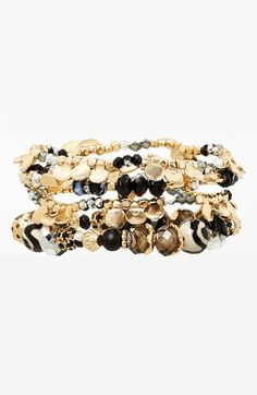 Sara Bella Beaded Stretch Bracelets (Set of 4) available at #Nordstrom