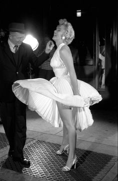 """Marilyn Monroe's """"subway"""" dress,"""" William Travilla, The Seven Year Itch, 1955"""