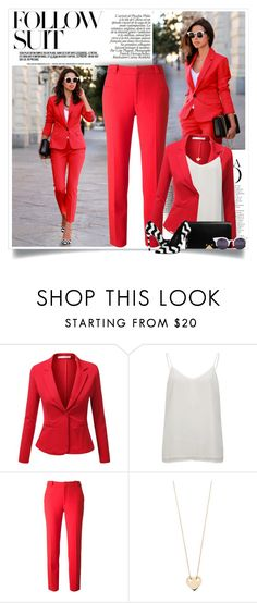 """Vivaluxury: The Power Red"" by nora-nazeer ❤ liked on Polyvore featuring J.TOMSON, Vero Moda, Roland Mouret, Schutz, Wunderkind and Ginette NY"