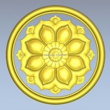 Round flower_056 carved figure floral bed column carved reliefs 3d model relief for cnc or 3D printers in STL file(China (Mainland))