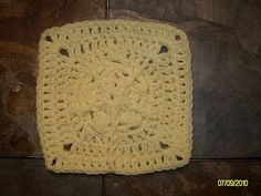 """One Crochet day at a Time """"BlueDragonFly Designs on a Hook"""": SIMPLE WISH 6"""" SQUARE"""