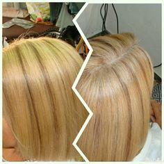 #work #hairstyle #blonde #mechas #tenerife