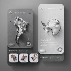 """UX/UI designer 𝗚𝗜𝗢𝗩𝗔𝗡𝗡𝗜 𝗠𝗜𝗡𝗚𝗢 on Instagram: """"App concept to consult the earth map. 🌍🌎🌏 . . . Let me know what you think! Happy to read your comment. if you like, hit the like button…"""" App Ui Design, User Interface Design, App Map, Grafik Design, Packaging Design Inspiration, Design Reference, Typography Design, Earth, Brain"""