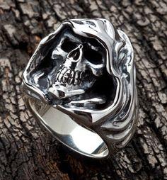 Grim Reaper Sterling Silver Rings