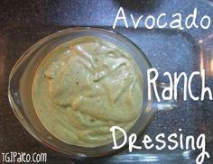Paleo Avocado Ranch Dressing