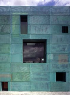 sarphatistraat offices ~ steven holl architects - an old favorite of mine, I don't know how often I tried to suggest copper mesh for various projects, I always got turned down