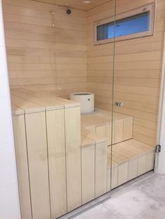 Modern Saunas, Bathroom Spa, Master Bathroom, Sauna Shower, Sauna Design, Steam Sauna, What House, Sauna Room, Houses