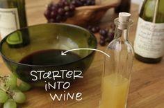 turn leftover red wine into red wine vinegar