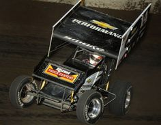 Tony Stewart in his Winged Sprint.