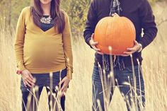 October baby/maternity pic idea. So wish we would have done this!!