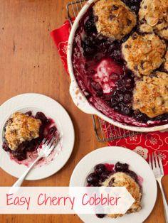 Easy dessert recipe: Cherry Cobbler