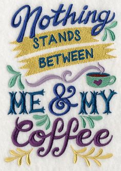 Coffee Apron, Server Apron, Barista Apron, Nothing Stands Between Me and My Coffee Embroidered 8 oz Organic Cotton, Recycled Polyester Apron I Love Coffee, Coffee Art, My Coffee, Coffee Break, Coffee Drinks, Morning Coffee, Coffee Humor, Coffee Quotes, Coffee Pictures