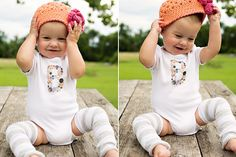 custom onsies using iron transfer paper... I want to try this immediately!