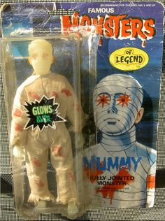The Mummy Retro Toys, Vintage Toys, Vintage Movies, Monster Toys, Monster Mash, Creepy Toys, Old School Toys, Horror Monsters, Famous Monsters