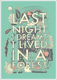"""Last night I dreamt I lived in a forest"" / ""Anoche soñé que vivía en un bosque"". Steph Baxter."