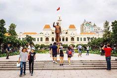 xotoursStatue of President Ho Chi Minh at Nguyen Hue Walking Street.  Photo by @neilfeatherstonephoto  #saigon #saigonese #hcmc #vietnam #statue #cityhall #cityscape #travel #travelgram #tourist #wanderlust #people #citylife #instagood #instamoment #picoftheday