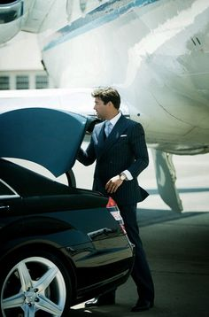 my dream. being dropped off at my plane in benz s class