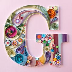 40 Examples of Creative Paper Typography Art By Anna Chiara Valentini Arte Quilling, Quilling Letters, Paper Quilling Patterns, Quilled Paper Art, Quilling Paper Craft, Paper Crafts, Quilling Ideas, 3d Modellierung, Imagenes My Little Pony