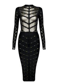 JEMORA RIVET BANDAGE DRESS