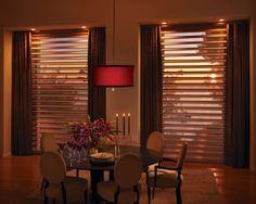 Cortinas Pirouette®  Un producto innovador que combina la elegancia de suaves pliegues de tela con la posibilidad de controlar la iluminación de una forma novedosa.