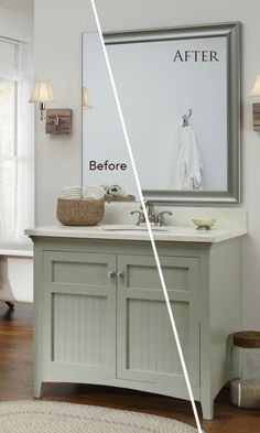 Bring vacation home with a seaside inspired bathroom update.
