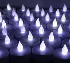 60 PCS Battery Operated Flameless Flickering LED Tealights Candles