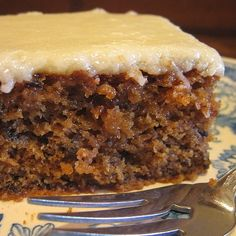 Prune Cake with Glazed Topping