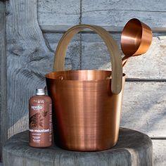 Rento Sanko ja kauha, väri: kupari, löylytuoksu: Talven mausteet / Rento sauna pail and ladle, color: copper, sauna scents: Winter spices