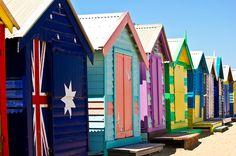 Beach huts, Brighton Beach, Melbourne, Australia