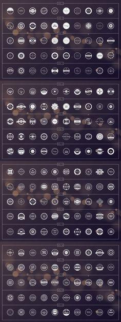 200 retro badges.