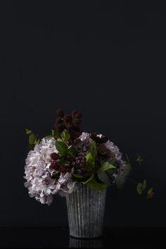 Hydrangea Bouquet photo by Graham Atkins Hughes for Abigail Ahern Whhhatttt Romantic Flowers, Fake Flowers, Beautiful Flowers, Wedding Flowers, Autumn Flowers, Beautiful Things, Hydrangea Bouquet, Floral Bouquets, Floral Arrangements