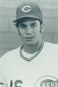 Randy Poffo (a.k.a. Macho Man Randy Savage) as a 19-year-old outfielder for the Cincinnati Reds.
