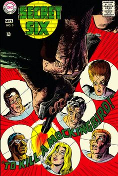 Secret Six #3, September 1968, cover by Jack Sparling