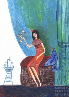 Ilustracion para cuento  Illustration for a story, by Ninia Yol