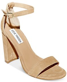 Steve Madden Women's Carrson Ankle-Strap Dress Sandals - Sandals - Shoes - Macy's