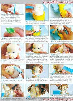 МК как слепить волосы/парик для куклы -How to Make a Doll Wig / Doll Hair - Страница 4 - Мастер-классы по украшению тортов Cake Decorating Tutorials (How To's) Tortas Paso a Paso