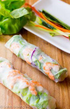 Rollitos vegetales primavera, para MdeP, con obleas de arroz