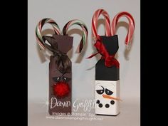 ▶ Rudolph Candy Cane Box Envelope Punch Board with Dawn - YouTube