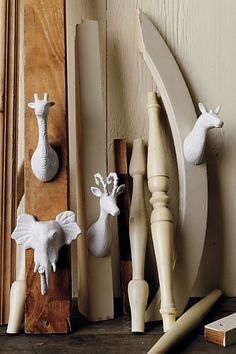 Cool hooks for clothes or playroom - from anthropologie.com