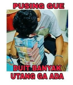bantu mikir bro Memes Funny Faces, Funny Kpop Memes, Quotes Lucu, Jokes Quotes, Money Pictures, Cartoon Jokes, Love Quotes Funny, Funny Stickers, Best Memes