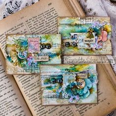 From Elena Morgun. Atc Cards, Card Tags, Art Doodle, Paper Art, Paper Crafts, Art Trading Cards, Mixed Media Cards, Art Journal Pages, Art Journaling
