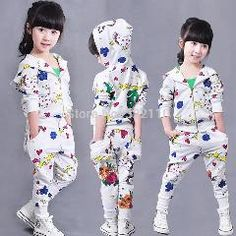 [ 21% OFF ] Baby Girls Spring Autumn Print Clothing Sets 2 Pieces Hoodies Pants Kids Suits Children Sweat Suit White Tracksuits 90 To 130