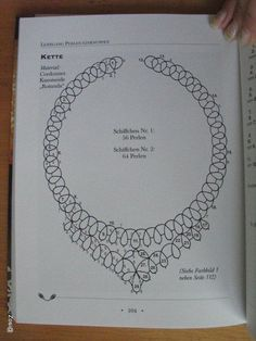 Diy Crafts - VK is the largest European social network with more than 100 million active users. Tatting Necklace, Tatting Jewelry, Lace Necklace, Tatting Lace, Shuttle Tatting Patterns, Needle Tatting Patterns, Beading Patterns, Needle Tatting Tutorial, Tutorial Crochet